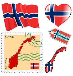 National colours of norway vector