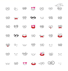 Set of Emotions cartoon vector image