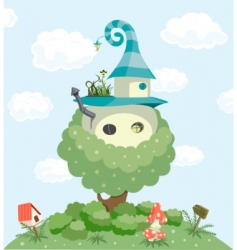 fairy tale house vector image
