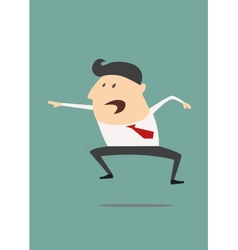 Excited cartoon businessman vector