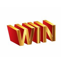 Golden 3d of the words win vector