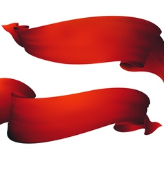 Red ribbon banner  set vector