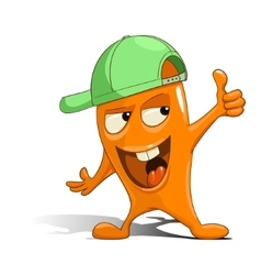 Cartoon orange character alien vector