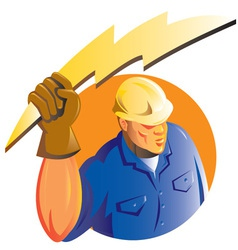 Construction worker electrician vector
