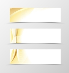 Set of banner gold design vector