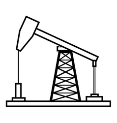 Isolated petro oil machine graphic vector