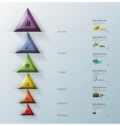 Modern Triangle And Hexagon Business Infographic vector image