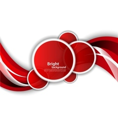 Bright wavy background with circles vector image