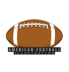 a ball for american football closeup vector image vector image