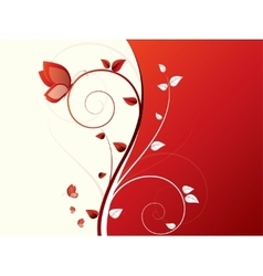 Abstract background with wave and floral elements vector