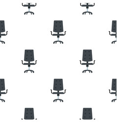 Black office chair pattern flat vector