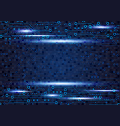 blue circuit board background design for digital vector image