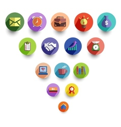 Business management and office icon set vector image