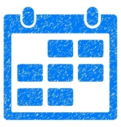Calendar month grainy texture icon vector