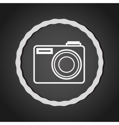 Camera photography line icon vector