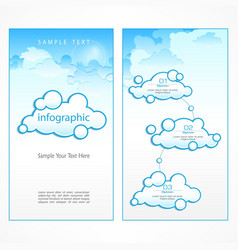 Clouds infographic vector