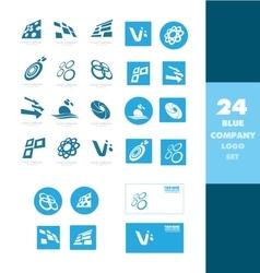 Company logo icon set vector