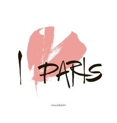 Conceptual inscription i love paris stylized vector