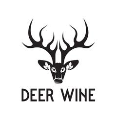 Deer wine negative space concept vector