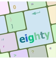 Enter keyboard key with eighty button vector