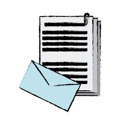 envelope document paper files office supplies vector image vector image
