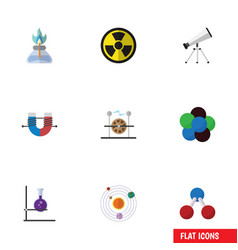 Flat icon knowledge set of electrical engine vector