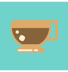 flat icon on background coffee cup flavor vector image
