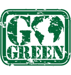 Go Green stamp vector image