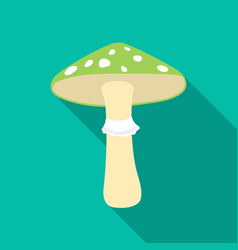 green amanita icon in flat style isolated on white vector image vector image