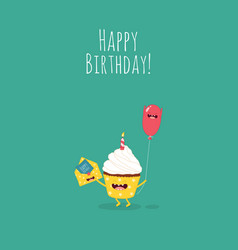 Happy birthday card with number 10 candle vector