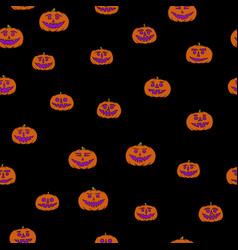 Jack-o-lantern seamless pattern vector