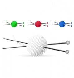knitting vector image