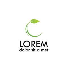 Letter c leaf logo vector