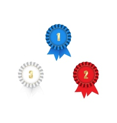 medals with ribbons 1st 2nd 3rd vector image