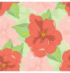 Oleander seamless pattern vector image vector image