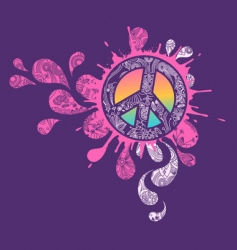 peace sign graphic vector image vector image