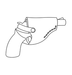 Pistol in the holster firearms pistol detective vector