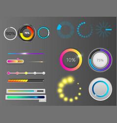 progress loading bar indicators download vector image vector image