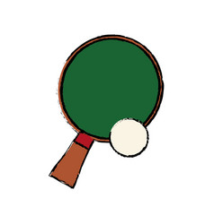 Racket and ball ping pong play vector