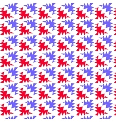 Red and blue ragged corner pattern background vector