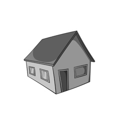Residential house icon black monochrome style vector image vector image