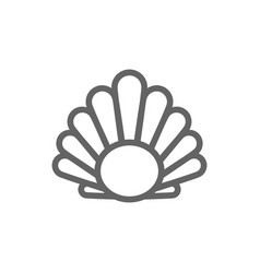 simple perl in a shell line icon symbol and sign vector image