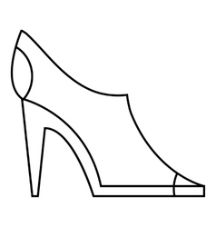 Women autumn shoes icon outline style vector