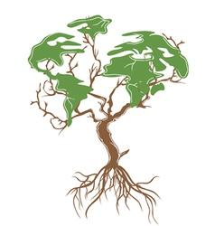 green earth tree vector image