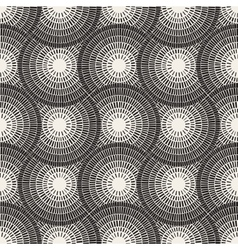 Seamless black and white mosaic pavement vector