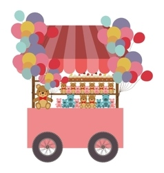 Toys cart icon vector