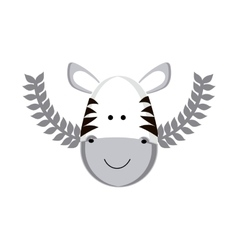 Cute zebra cartoon vector