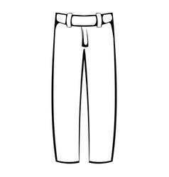 baseball pants icon icon cartoon vector image