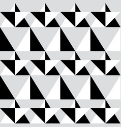 Geometric seamless pattern - abstract black and wh vector