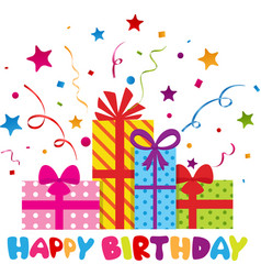 Happy birthday with confetti vector
